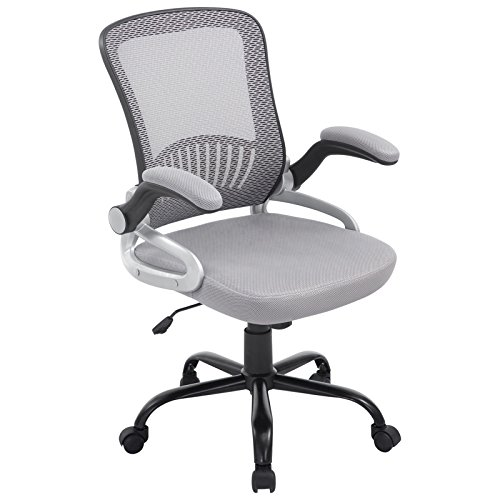 Poly and Bark Hargrove Office Chair in Grey (Best Office Chair To Sit Cross Legged)