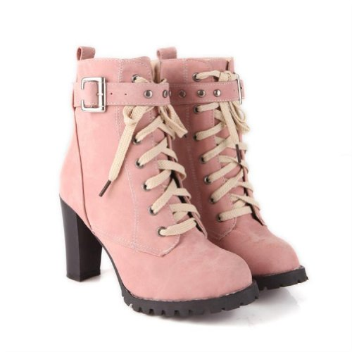Charm Foot Fashion Womens Platform High Heel Chukka Boots Western Boots