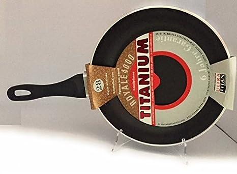 LumenFlon sartén 28 cm Titanium Royale 4000, Antiadherente, Ultra Titan, esmaltada, 6 mm Grosor: Amazon.es: Hogar