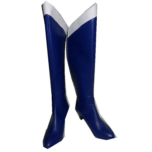 Sailormoon Sailor Moon Mercury Amy cosplay costume Boots Boot Shoes Shoe - Button Moon Costume