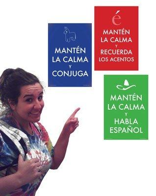 Keep Calm Spanish 3 Poster Set