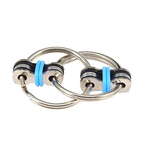 Mostsola Chain Fidget Toy Stress Reducer - Perfect for ADD, ADHD, Anxiety, and Autism (Blue)