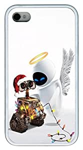 iPhone 5c Case and Cover Wall-E Christmas TPU Silicone Rubber Case Cover for iphone 5c and iPhone 5c White