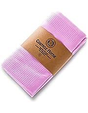 COSMOZ Set of 5 Microfibre Tea Towels 62 x 48 cm - Premium Quality for Home & Gastro