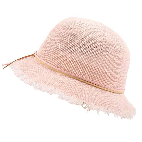 Hats Cap Fashion Summer Children Beach Sun Visor Wide Brim Cap Bow Comfortable Hat Pink