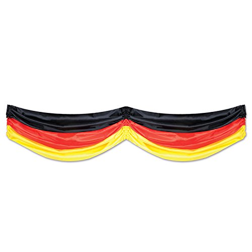 Beistle 50948-BKRY German Fabric Bunting Party Decor, 5-Feet (German Decorations)