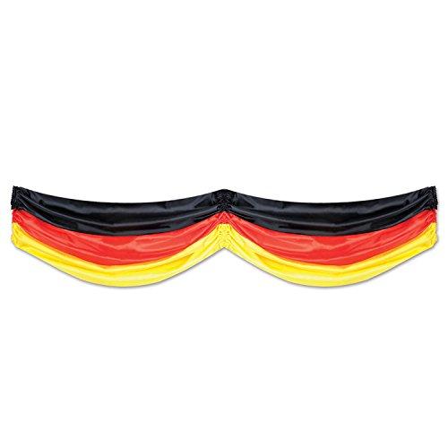 Beistle 50948-BKRY German Fabric Bunting Party Decor, 5-Feet 10-Inch