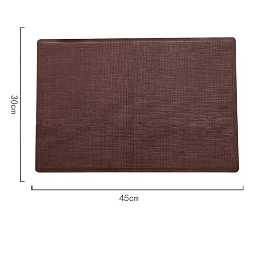 - AERICKON Anti-Skid PU Leather Table Mat Waterproof Placemat Kitchen Restaurant Cafe Tableware Pads Heat Resistant Home Decoration
