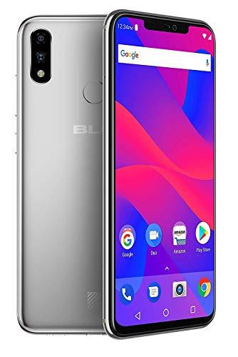 "BLU Vivo XI+ (Vivo 11) GSM Unlocked + Verizon Wireless CDMA Smartphone, 128GB, Octa-Core, 6.2"" LCD Display, Dual 16MP Cameras - Silver (Renewed)"
