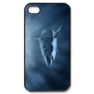 J-LV-F Customized Print Deep Sea Shark Pattern Back Case for iPhone 4/4S