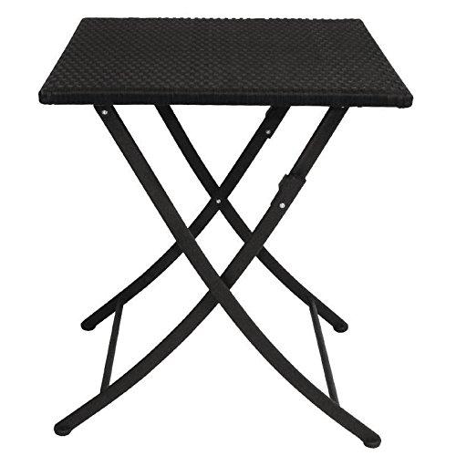 Square Bolero GL302 PE Wicker Folding Table 600 mm