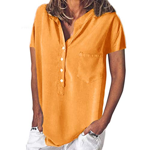 Big Sale YetouWomen's Sexy Casual Tops Off-Shoulder Top Lace Short Sleeve Top Casual Summer T-Shirt -