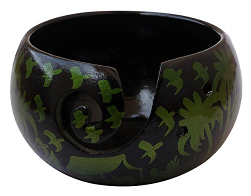 2018 - Ceramic Yarn Bowl for Knitting, Crochet for Moms - Beautiful Gift on All Occasions. A Perfect Gift for Moms and Grandmothers (Big Yarn_17) by AB Handicrafts