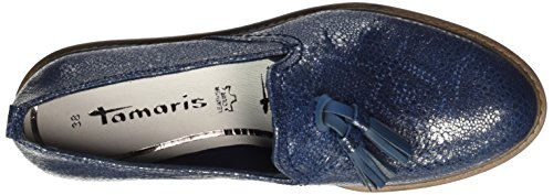 Tamaris Women's 24300 Loafers Blue (Navy Metallic) cheap online store sale fashion Style visa payment clearance cheapest price sale shop for kXSIDES