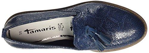 24300 Metallic Bleu Tamaris navy Mocassins Femme SwCx8qH