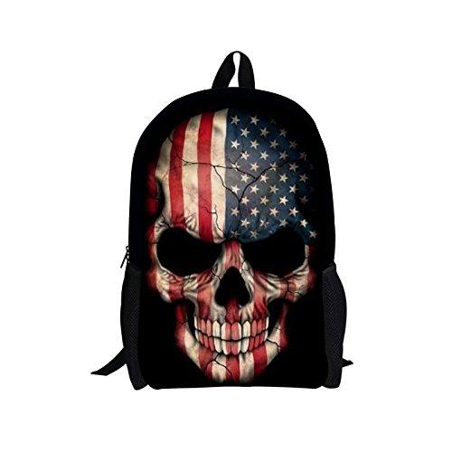 Cartoon Skull Backpack for Boy School Bag for Teens Bookbag Children Daypack