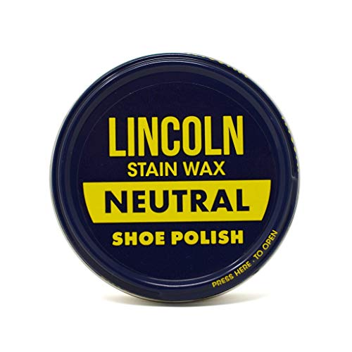 Shoe Paste Wax - Lincoln Stain Wax Shoe Polish, Neutral