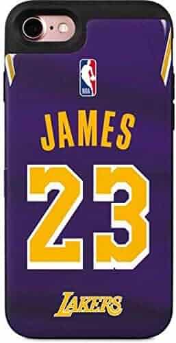 367e3b9b127e Skinit NBA Los Angeles Lakers iPhone 8 Wallet Case - LeBron James Lakers  Purple Jersey Design