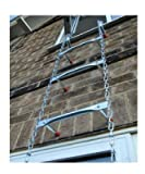 Saf-Escape - 3 Story 25 foot Portable Fire Escape Ladder 10'' Thick Wall - Tangle Free Steel Chain - model # 1025