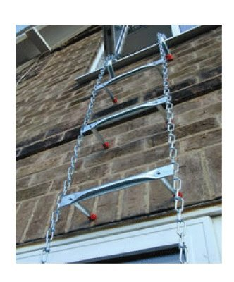Saf-Escape - 2 Story 15 foot Portable Fire Escape Ladder 10'' Thick Wall - Tangle Free Steel Chain - model # 1015 by Saf-Escape