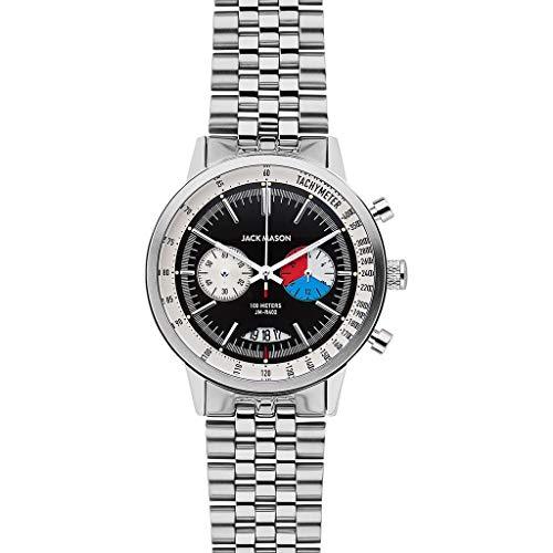 Jack Mason Racing Chronograph Black Dial Stainless Steel Bracelet JM-R402-004