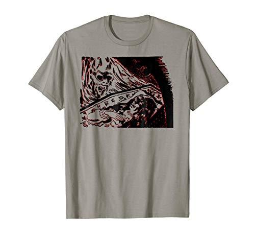 Evil Spirit Over Coffin of Possessed Girl Halloween T-Shirt for $<!--$12.88-->