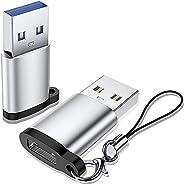 KAMYSEN 2 piezas Adaptador USB 3.0 a USB C, USB 3.1 Tipo C a USB 3.0 Tipo A Hembra a Macho para SanDisk Extrem