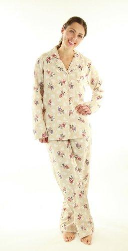 Womens Premium 100% Cotton Flannel Pajama Sleepwear set - Many Cute Patterns