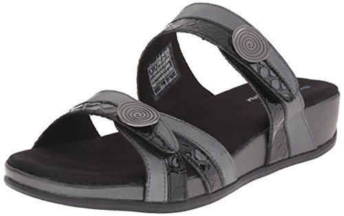 Skechers Palm Springs vestido de la sandalia Pewter/Black