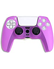 Soft Silicone Case Protective Skin Cover Wrap Case Joystick Rubber for Playstation 5 PS5 (Purple)