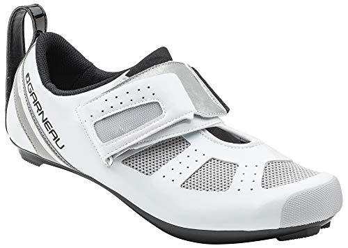 Louis Garneau Men's Tri X-Speed 3 Triathlon Bike Shoes, White/Drizzle, US (11.5), EU (46) ()
