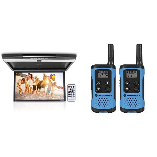 Car Overhead Monitor Screen Display and  T100 Talkabout Radio, 2 Pack