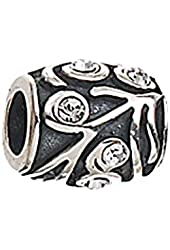 Zable Sterling Silver Swirls with CZ Bead