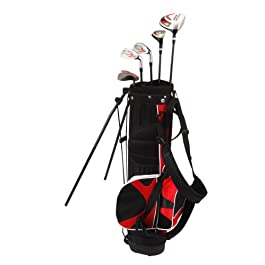 Nitro Kid's Right-Handed 8 Piece Golf Club Set Blaster Kid's Golf Set – 31 Inch Graphite 15-Degree Regular with Bag 9-12 Years