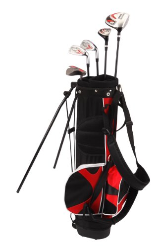 Kid's Right-Handed 8 Piece Golf Club Set - Nitro Blaster Kid's Golf Set - 31 Inch Graphite 15-Degree Regular with Bag 9-12 years ()