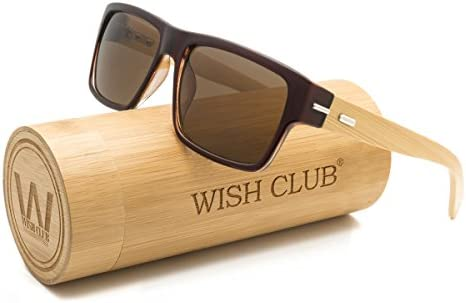 WISH CLUB Wood Wayfarer Sunglasses UV 400 Eyewear for Men