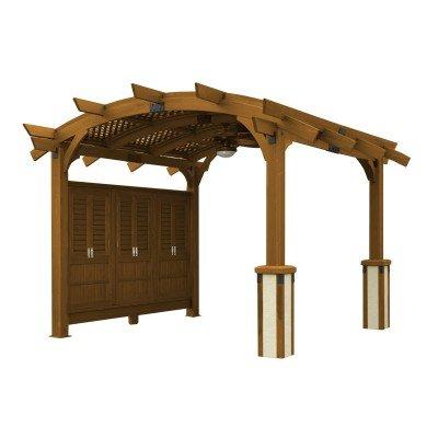 Sonoma 12 x 16 ft. Arched Wood Pergola - Redwood - Amazon.com : Sonoma 12 X 16 Ft. Arched Wood Pergola - Redwood