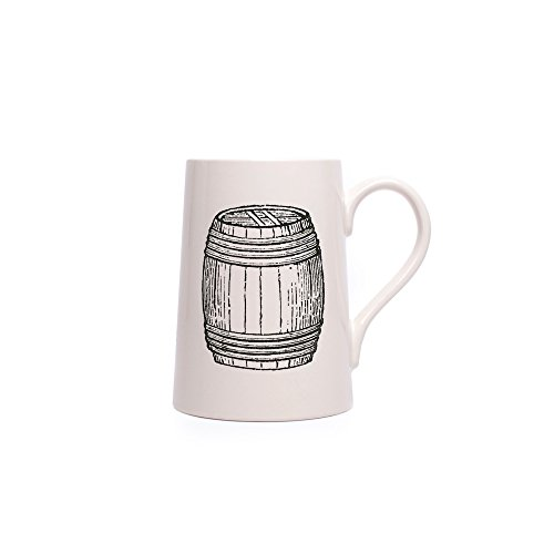 Izola Extra Large Ceramic 24 oz Viking Tankard Specialty Beer Mug - (Porcelain Double Wall Cooler)