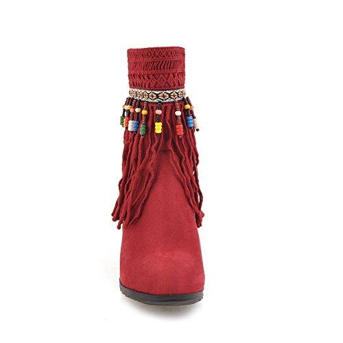 Glands Antidérapants Casual Balamasa Femmes Confort Daim Bottes Abl09944 Rouge