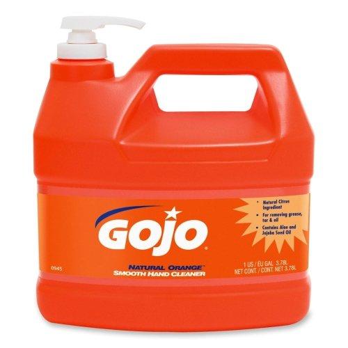 Gojo Orange Smooth Hand Cleaner - Gojo Natural Orange Smooth Heavy-duty Hand Cleaner - Citrus Scent - 1 gal (3.8 L) - Orange - 1 Each