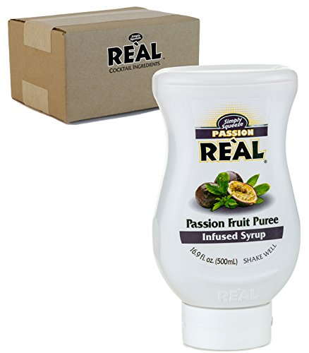 Passion Fruit Reàl, Passion Fruit Puree Infused Syrup, 16.9 FL OZ Squeezable Bottle (Pack of 1)