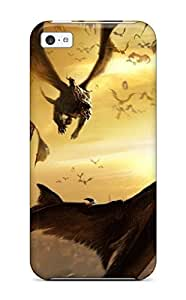 Slim Fit Tpu Protector Shock Absorbent Bumper Dragon Case For Iphone 5c