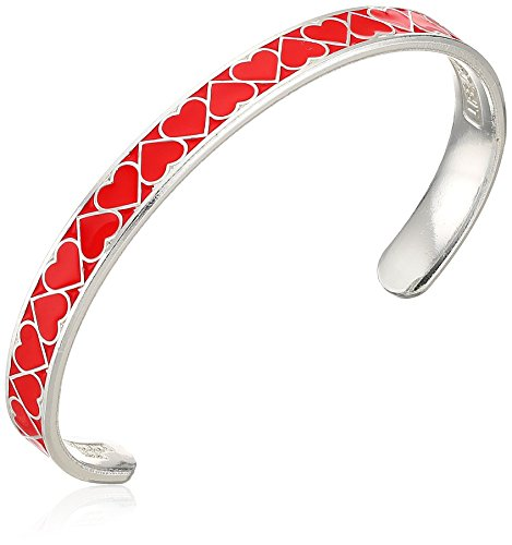 Price comparison product image Alex and Ani Color Infusion Cuff,  Heart,  Red,  Shiny Silver,  Expandable