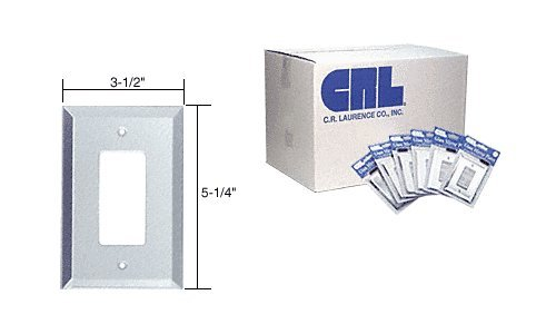 Clear Mirror Glass Single Decora Outlet Mirror Plate in Bulk Pack Pack of 100 by CR Laurence