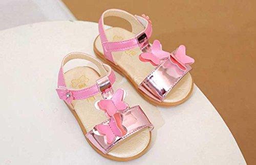 Huhu833 Babyschuhe, Kinder Mädchen Bowknot Rutschfeste Sandalen Sneaker Pricness Casual Einzelne Schuhe Rosa