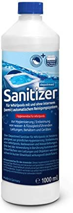 Whirlpooldesinfektionsmittel Whirlpooldesinfektionsmittel Whirlpool Hygiene Whirlpoolreiniger depotmed/® Sanitizer f/ür Whirlpooldesinfektion Reinigung