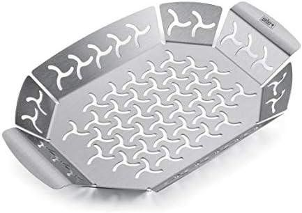 2x Weber 6677 Premium Grilling Basket for sale online