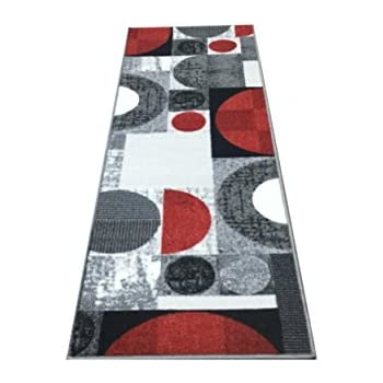 Amazon Com As Quality Rugs Red Abstract Runner Rug 2x8