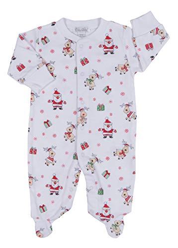 Kissy Kissy Baby-Boys Infant Santa Print Footie-Multicolored-9 ()