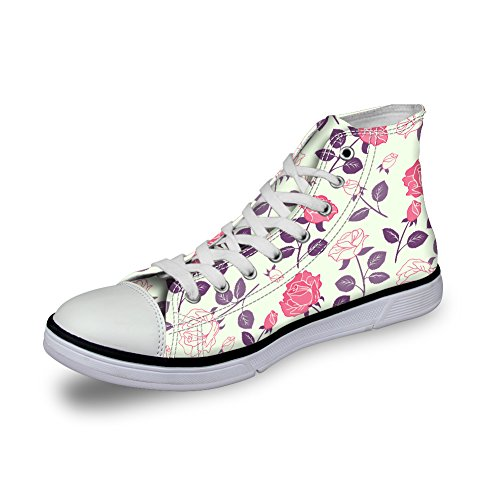 ThiKin スニーカー レディーズ メンズ 個性的 3Dプリント 花 柄 カジュアル 靴 シューズ 人気 おしゃれ 軽量 通気 ファッション 通勤 通学 プレゼント